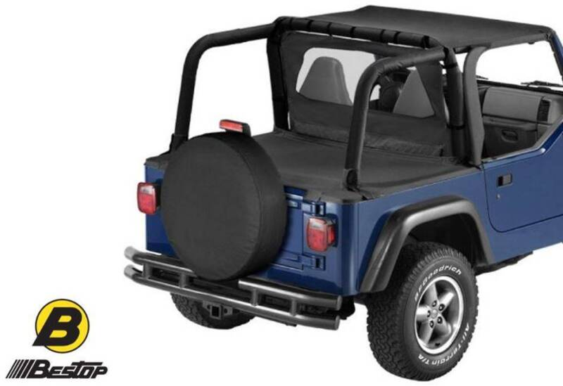 BESTOP Jeep TJ Wrangler Bikini Top Roof Soft Top Black Denim USA ...