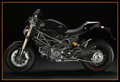 FNG Injection Molding Fairing Bodykit For Ducati Monster 696 796 1100 S R EVO BK