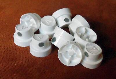 10 Stk.Sprühköpfe Caps (Skinny/Softcap weiß-grau) fein dünn Montana Belton ()