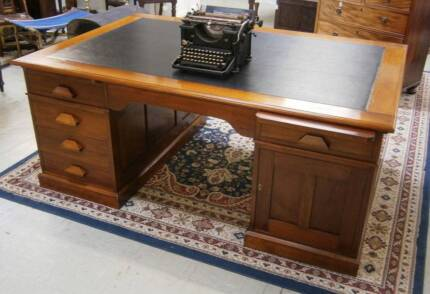 1920s Blackwood and huon pine partner's desk. Lindisfarne Clarence Area Preview