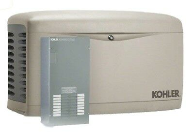 Kohler 20kw Stationary Back-up Power Generator Lp Natural Gas 100a Ats 20rescl