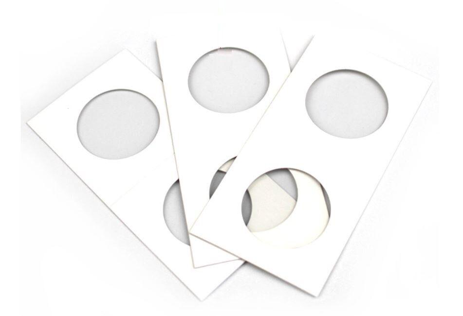 100 X Penny Cent / Dime 20mm 2x2 Cardboard Mylar Coin Holder Flip-US 1&10 cent