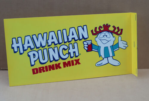 HAWAIIAN PUNCH DRINK  SODA POP FLANGE SIGN With Punchy hula girl  Modern Retro