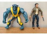 Marvel Beast and Wolverine figures