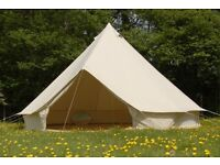 Ultimate Bell Tent Hire - 5m - Zipped Groundsheets - Delivery/Set Up or Collect and DIY