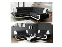 BOXING DAY SALE PAY WEEKLY CAROL CORNER SOFA OR 3+2 LEATHER SEATER £15 PER WEEK