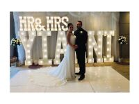Hire our light up 'MR&MRS' + 6 5ft Light up Letters £255 weddings, Engaged, Anniversary, Engagement