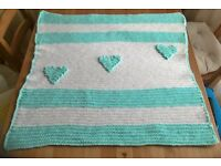 Lovely blanket from wool - It's a perfect gift for baby shower or Christmas