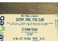 Sparks/Goldfrapp/Future Islands 02 Academy Friday 24 March - 1 ticket for sale