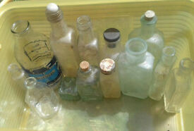 job lot vintage bottles
