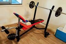 GymTech Weight Bench incl. Curl bar + dumbells Perth CBD Perth City Preview