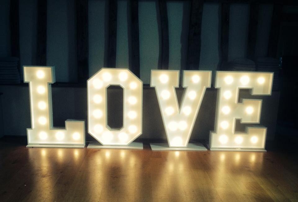 wedding love letter hire essex suffolk norfolk illuminated love letters wedding entertainment