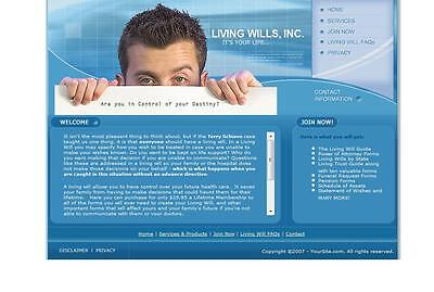 Living Will Forms Business Website For Sale. Google Adsense. Free Domain Name.