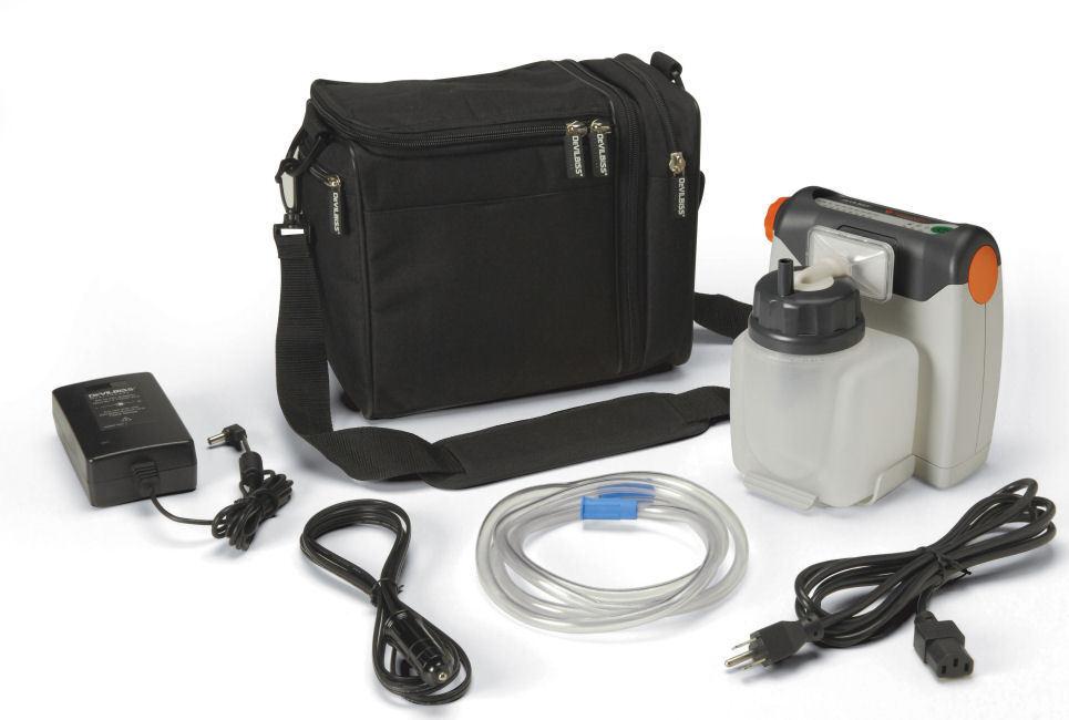 Devilbiss Vacu-aide Compact Portable Suction Aspirator Machine 7310pr-d Vacuaide