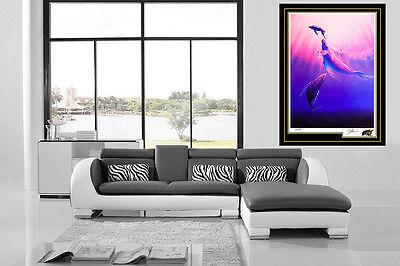 Christian Lassen Sea Down Original Large Color Lithograph Dolphins Signed Art