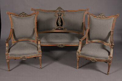 Elegante French Lounge Suite Set IN Louis Seize Style