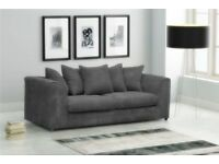 FABRIC/CRUSH VELVET SOFA LUXURY SOFA *DYLAN*CHEAPEST PRICE 3+2/Corner sofa 40234