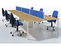 HIGH QUALITY SVEN X- RANGE OFFICE BENCH DESK WORK STATION DESKING SCREEN PARTITION CABLE MANAGEMENT