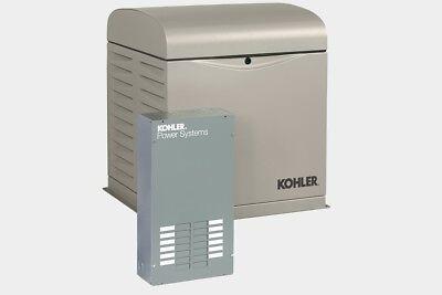 Kohler 12kw Stationary Back-up Power Generator Lp Vapor Natural Gas Ats 12resvl