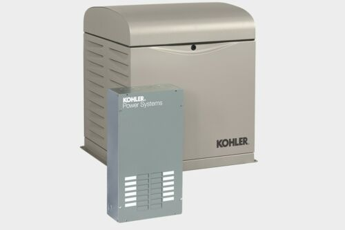 KOHLER 12kW Stationary Back-Up Power Generator LP Vapor Natural Gas ATS 12RESVL