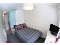 An ensuite double bedroom in a clean and tidy environment