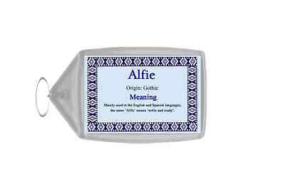 Alfie Personalised Name Meaning Keyring