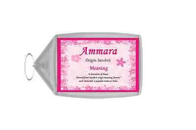 Ammara Personalised Name Meaning Keyring