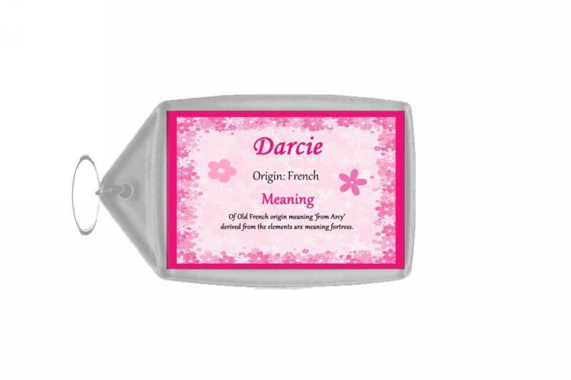 Darcie Personalised Name Meaning Keyring