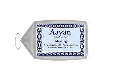 Aayan Personalised Name Meaning Keyring