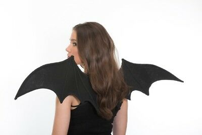 ADULT BAT DRAGON VAMPIRE COSTUME WINGS DARK ANGEL DEVIL DEMON GARGOYLE BLACK - Halloween Costume Demon Wings