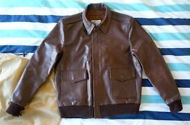 A-2 Leather Flying Jacket WW2 repro - NEW