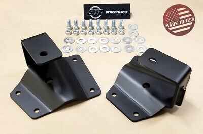 "[SR] Lowering Kit 2"" Rear Axle Drop Hangers 99-06 Sierra Silverado 1500 GM Truck"