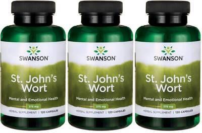 360 Caps Swanson St  John S Wort 375 Mg Stress Relief Anxiety Hypercin   Bonus