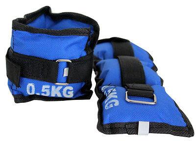 2 Manschetten je 0,5 kg Gewicht Kraft Training Arm Beine Laufen Joggen Sport Fit