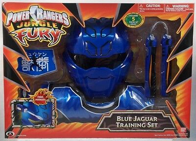 Power Rangers Jungle Fury - Role Play Blue Jaguar Training Set Mask Badge (MISB) (Power Rangers Jungle Fury Mask)