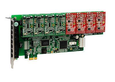 OpenVox A800E44 8 Port Analog PCI-E Base card + 4 FXS + 4 FXO
