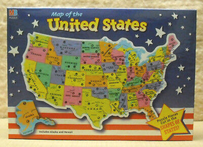 LOT OF 2 HASBRO - 84 PC US MAP PUZZLE - NEW  - Us Puzzle
