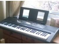 EZ220 YAMAHA,five octaves,60note,keys,good beginners' very versatile half price £75