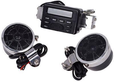 Radio Stereo Amplifier FM for Motorcycle Cruiser Biker Chopper Bobber Cafe Racer