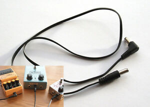 5-x-Guitar-Effects-Pedal-Power-Cable-Lead-Boss-Style-2-1mm-plugs-Voodoo-Brick