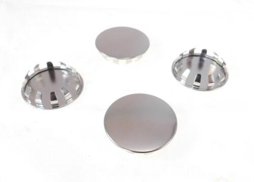 """4 Pack 1-3/8"""" Metal Hole Plugs- Nickel Plated  -  SP-1.375-NK"""