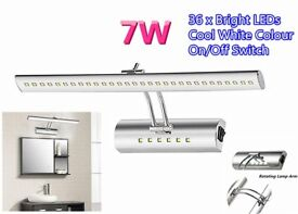 7W Mirror Light Reading Book Fixture Spot Lamp Bedroom Bedside Bathroom Front Wall Lights Cool White