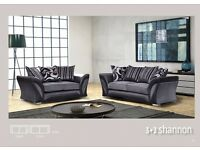 **100% GUARANTEED PRICE!**BRAND NEW-Shannon Genuine Fabric 3 and 2 Set or Corner Sofa-Same/Next Day