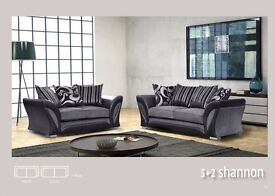 BRAND NEW- SHANNON LUXURY FABRIC AND LEATHER 3+2 OR CORNER SOFA 2 COLORS-SAME DAY - QUALITY ASSURED