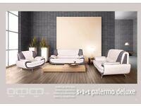 BRAND NEW PALERMO DELUXE SOFA SET AND CORNER SOFA FOR SALE