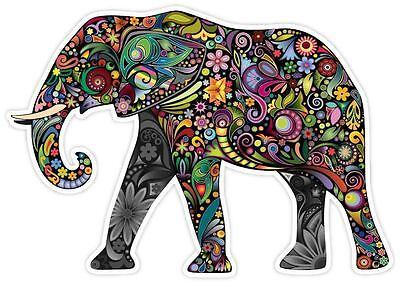 Cheerful Elephant Cartoon Art Decor Vinyl Decal Sticker - Elephant Decor