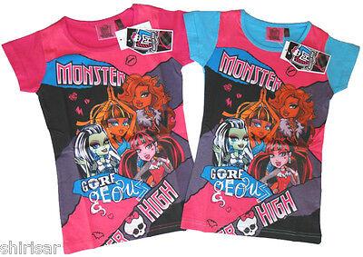 Monster High T-Shirt für Mädchen Mattel Shirt NEU tolle Farben cooles Motiv ()