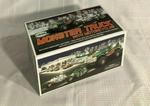 2007 Hess Monster Truck with Motorcycles -New in Original Box
