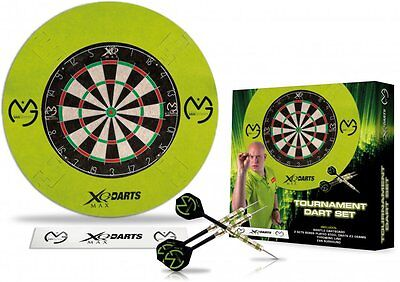 XQ-Max Board - Michael van Gerwen Bristle Dart Board Set Surround (Steel-Dart)