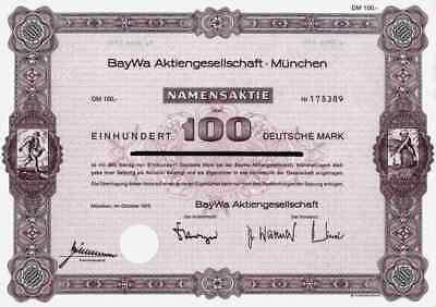 BayWa AG München 1975 Erding Agrarhandel 100 DM Dresden Dortmund Straubing Namen